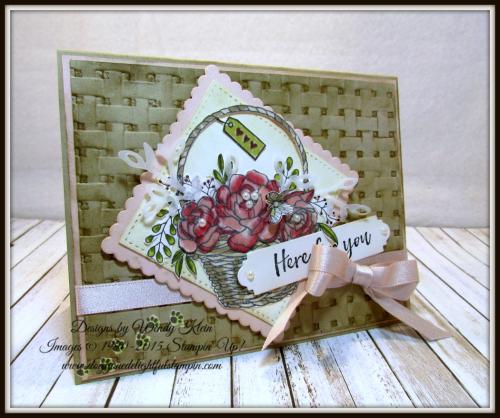 Blossoming Basket  Petals & More Thinlits  Layeirng Squares  Stitched Shapes Framelits  Stampin' Blends - 1