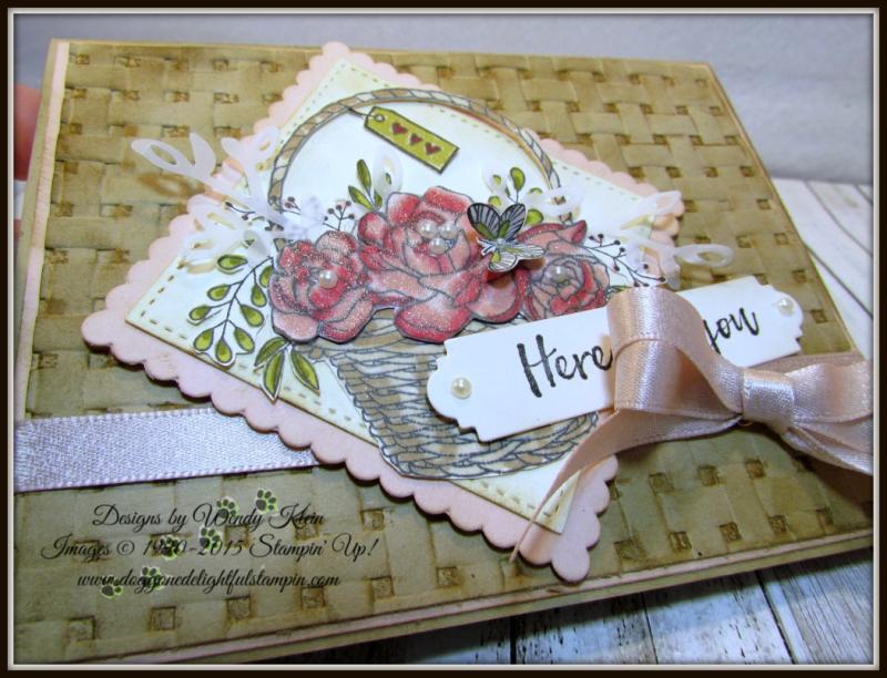 Blossoming Basket  Petals & More Thinlits  Layeirng Squares  Stitched Shapes Framelits  Stampin' Blends - 3