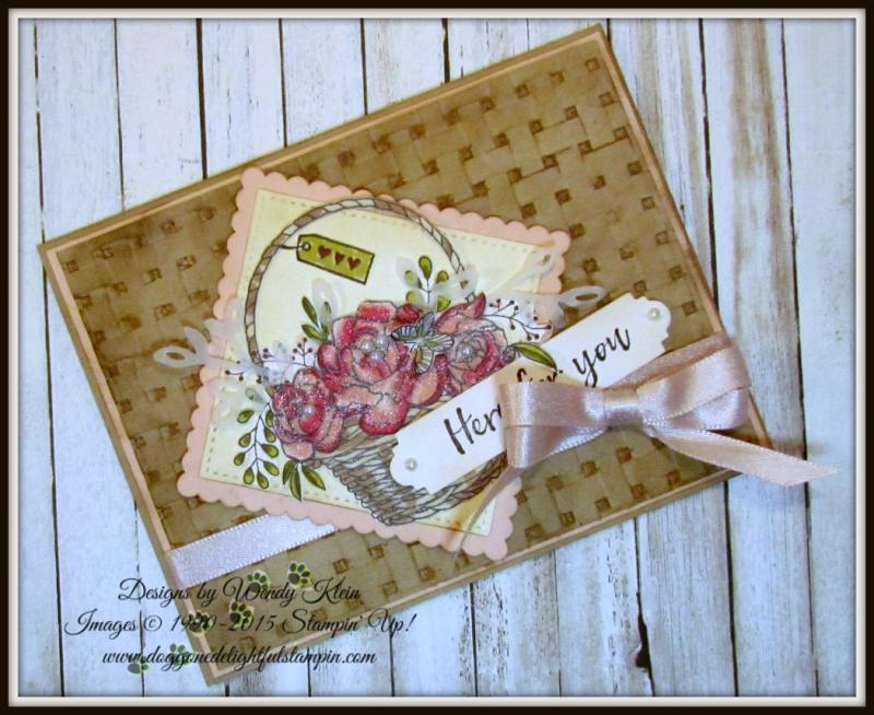 Blossoming Basket  Petals & More Thinlits  Layeirng Squares  Stitched Shapes Framelits  Stampin' Blends - 4