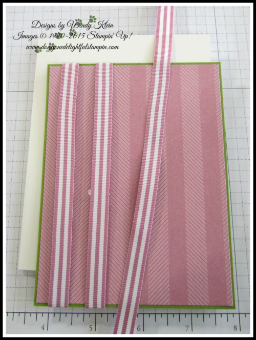 Petal Garden Sweet Sugarplum Ribbon Stripe technique - 1