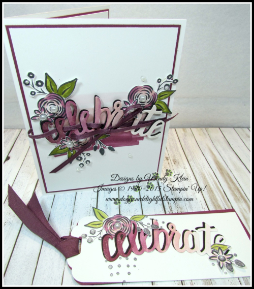 Perennial Birthday  Celebrate You Thinlits  Stampin Blends - 2