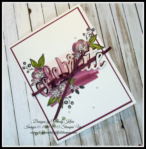 Perennial Birthday  Celebrate You Thinlits  Stampin Blends - 4