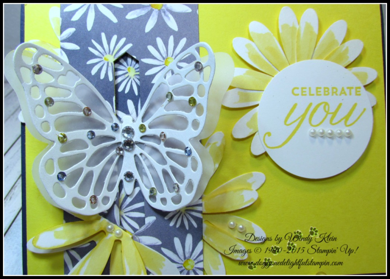 Bold Butterfly Framelits  Butterflies Thinlits  Delightful Daisy DSP  Daisy Punch  Classic Label Punch  Rhinestones  Pearls - 2