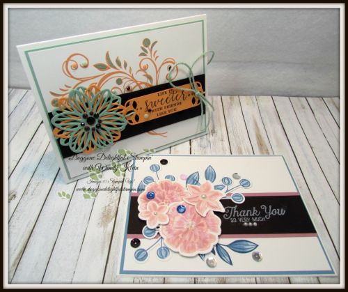 Falling Flowers  May Flowers Framelits  Detailed With Love  Stitched Labels Framelits  Faceted Dots  Natures Twine - 1