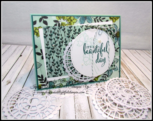 Love What You Do  Share What You Love DSP  Pearlized Doilies  Embellishment Kit  Stitched Shapes Framelits  Pearls - 1