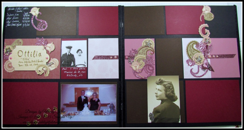 Paisleys Heritage Scrapbook Page - 1