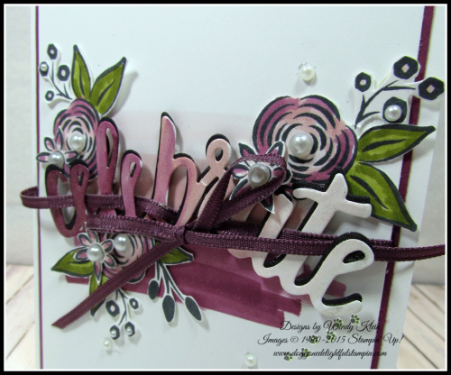 Perennial Birthday  Celebrate You Thinlits  Stampin Blends - 5