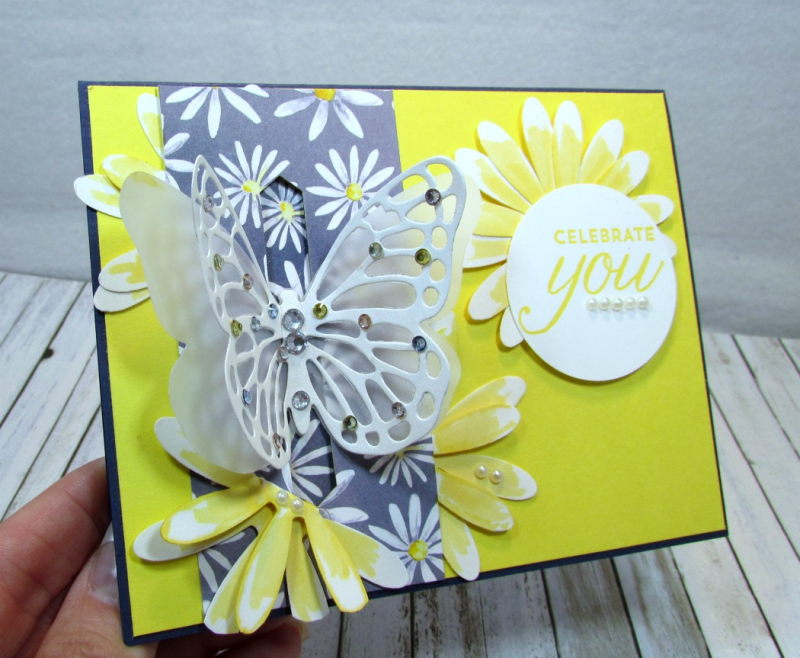 Bold Butterfly Framelits  Butterflies Thinlits  Delightful Daisy DSP  Daisy Punch  Classic Label Punch  Rhinestones  Pearls - 6
