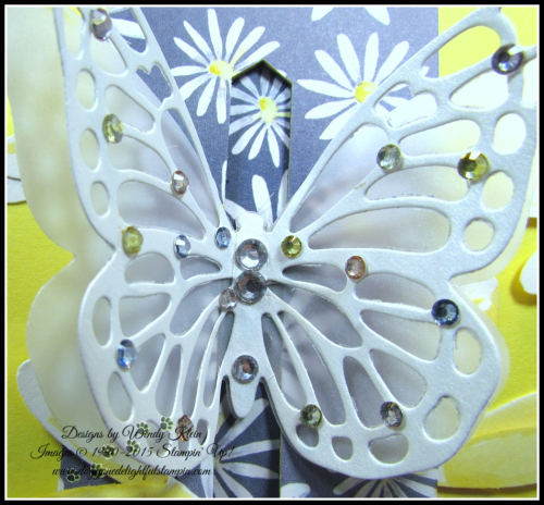 Bold Butterfly Framelits  Butterflies Thinlits  Delightful Daisy DSP  Daisy Punch  Classic Label Punch  Rhinestones  Pearls - 7