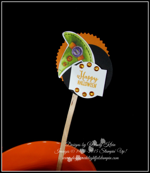 Cauldron Bubble Treat  Party Sticks - 2