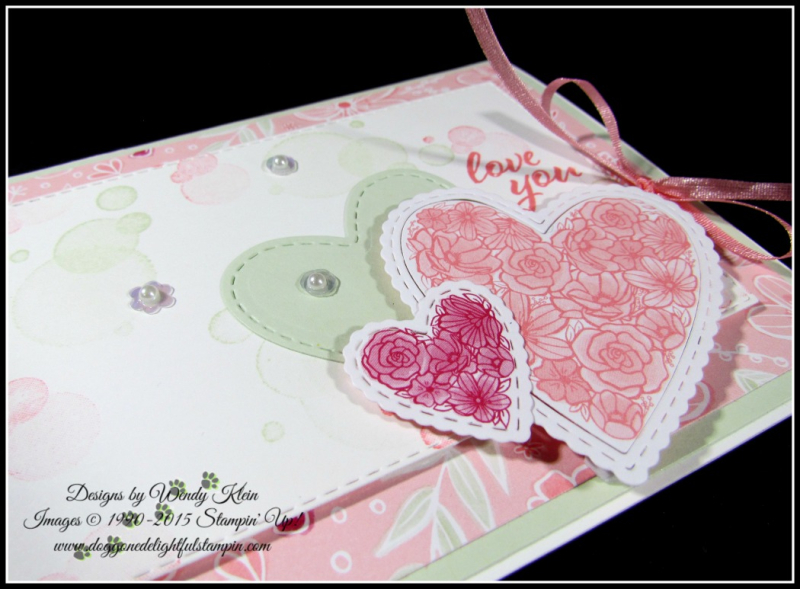 Forever Lovely  Be Mine Stitched Framelits  All My Love DSP - 3