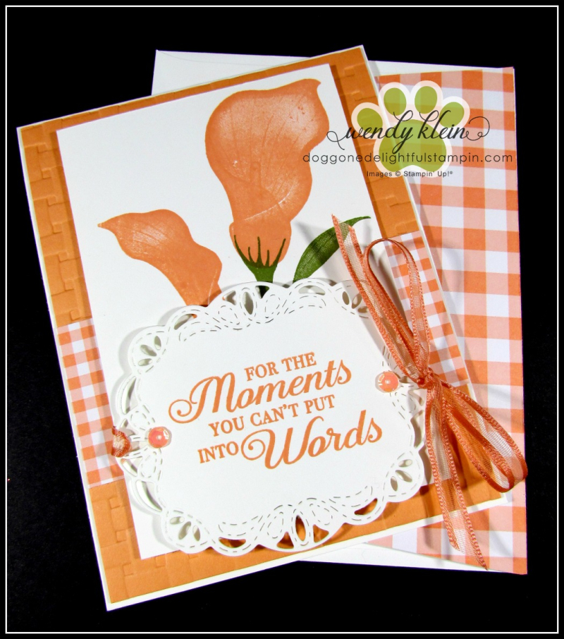 Lasting Lily with Gingham Gala card set - 5