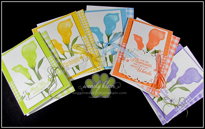 Lasting Lily with Gingham Gala card set - 8