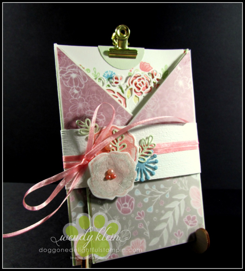 Forever Lovely Gate Fold Pocket Card - 1