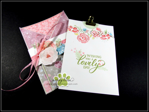 Forever Lovely Gate Fold Pocket Card - 2