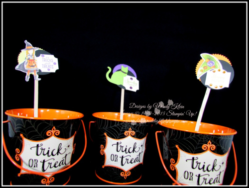 Cauldron Bubble Treat  Party Sticks - 1