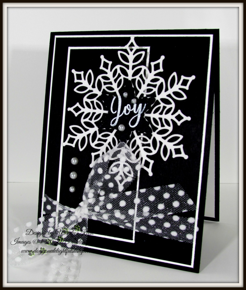 Snowflake Showcase in Black Tie Elegance - 4