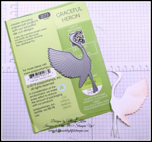 Memory Box - Poppy Stamps Graceful Heron - 4