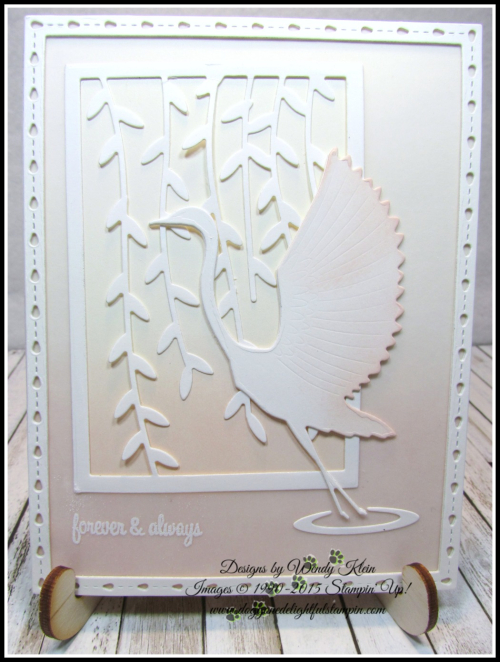 Memory Box - Poppy Stamps Graceful Heron - 8
