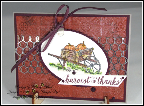 Pleasant Pheasants_Falling for Leaves_Country Home_Layering Ovals_Tin Tile TIEF_Shimmer Paint - 1