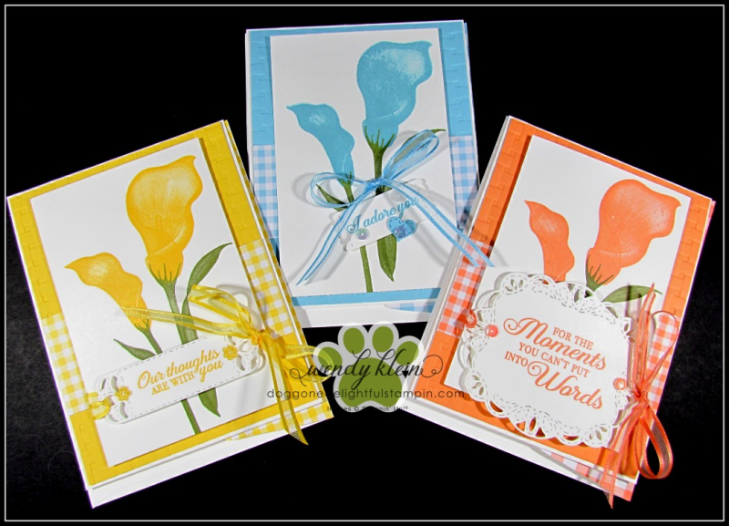 Lasting Lily with Gingham Gala card set - 2
