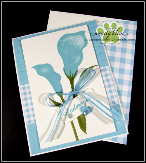 Lasting Lily with Gingham Gala card set - 4