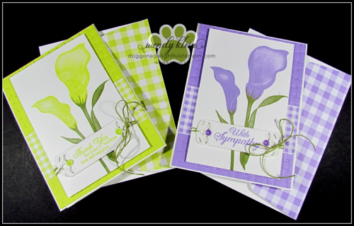 Lasting Lily with Gingham Gala card set - 6