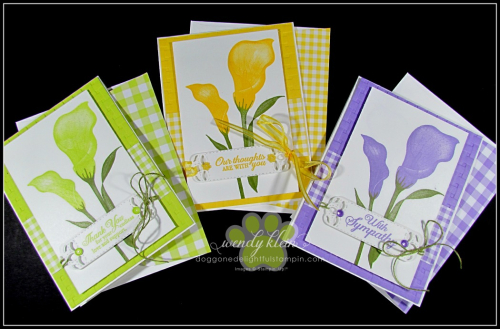 Lasting Lily with Gingham Gala card set - 7