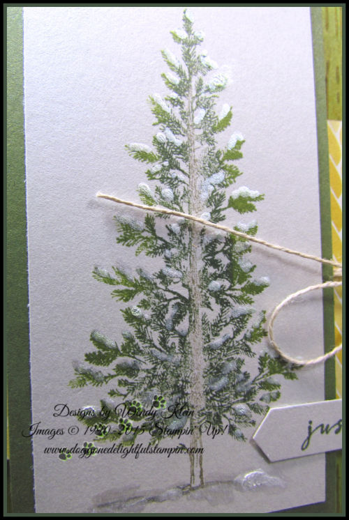 Lovely As a Tree  Wishing You Well  Pinewood Planks Dynamic TIEF  Classic Label Punch  Frost White Shimmer paint technique - 4