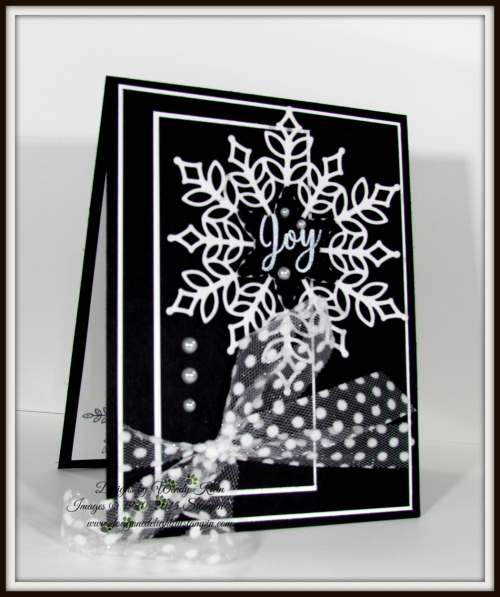 Snowflake Showcase in Black Tie Elegance - 1