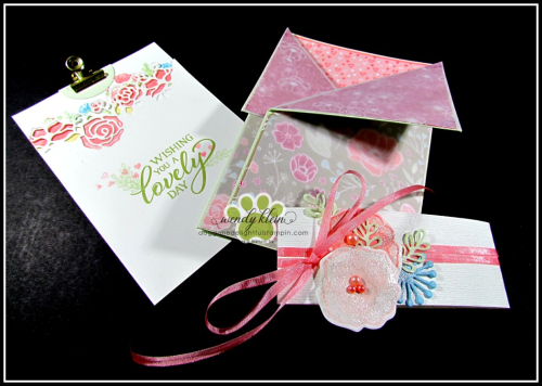 Forever Lovely Gate Fold Pocket Card - 3