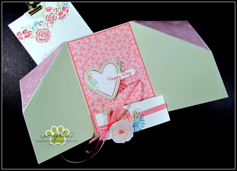 Forever Lovely Gate Fold Pocket Card - 4