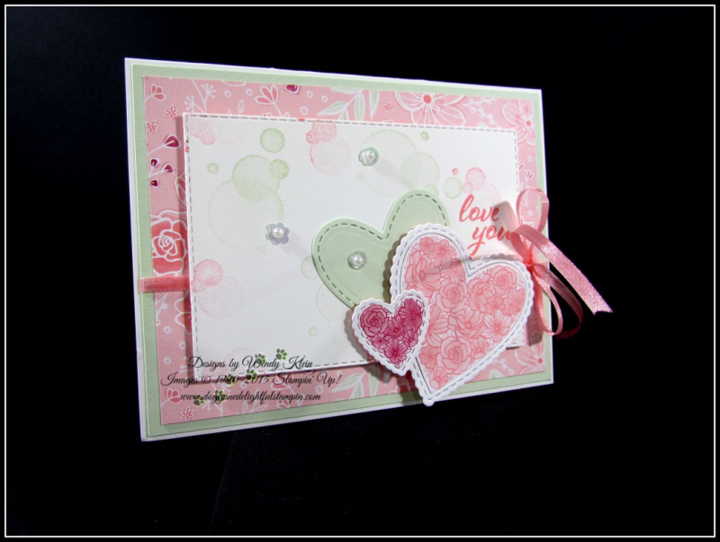 Forever Lovely  Be Mine Stitched Framelits  All My Love DSP - 1