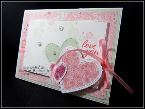 Forever Lovely  Be Mine Stitched Framelits  All My Love DSP - 2
