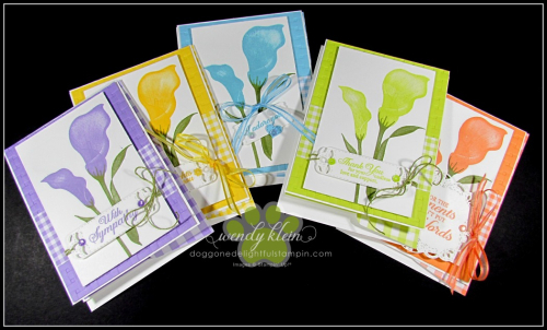 Lasting Lily with Gingham Gala card set - 1