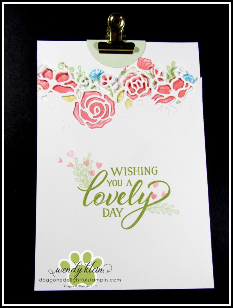 Forever Lovely Gate Fold Pocket Card - 6