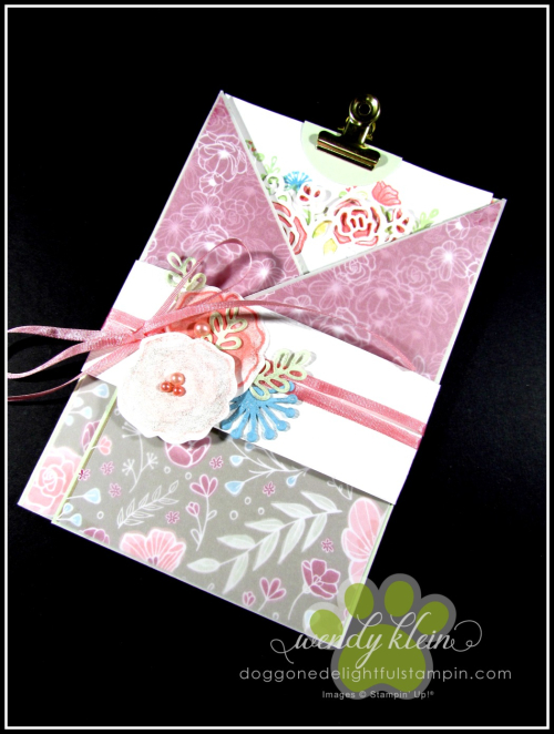Forever Lovely Gate Fold Pocket Card - 7