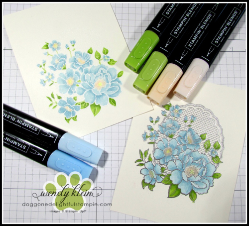 Lovely Lattice  Emboss Technique  Stampin' Blends - 1
