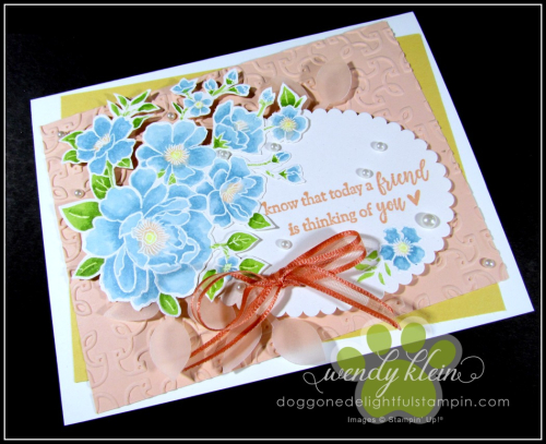 Lovely Lattice  Emboss Technique  Stampin' Blends - 5