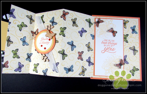 Botanical Butterfly DSP  Butterfly Duet Punch  DSP Showcase Z-Fold card - 10