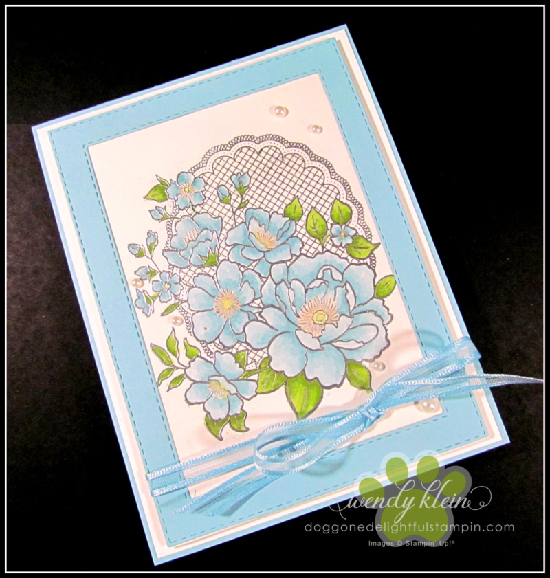 Lovely Lattice  Emboss Technique  Stampin' Blends - 4