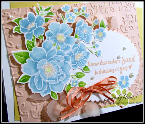 Lovely Lattice  Emboss Technique  Stampin' Blends - 9