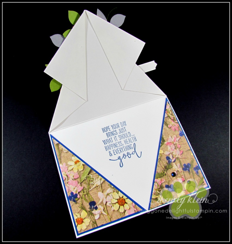Daisy Lane Birthday Card  Arrow Fold  Pressed Petals SDSP - 3