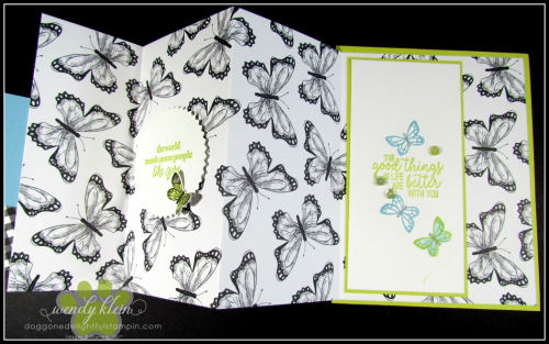 Botanical Butterfly DSP  Butterfly Duet Punch  DSP Showcase Z-Fold card - 8