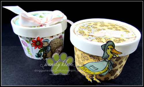 Easter Sweet Treat Cup  Share What You Love Spec DSP  Stampin Blends  Layering Circle Framelits  Artisan Pearls - 7