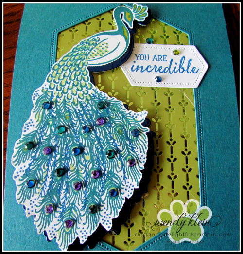 Royal Peacock  Detailed Peacock Dies  Stitched Nested Labels Dies  Noble Peacock Foil  Specialty DSP  & Rhinestones - 2
