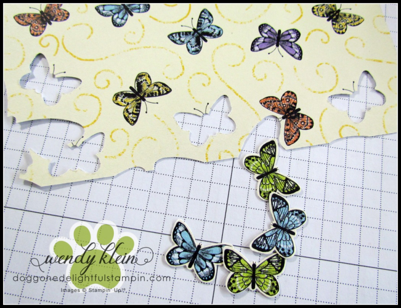Botanical Butterfly DSP  Butterfly Duet Punch  DSP Showcase Z-Fold card - 4