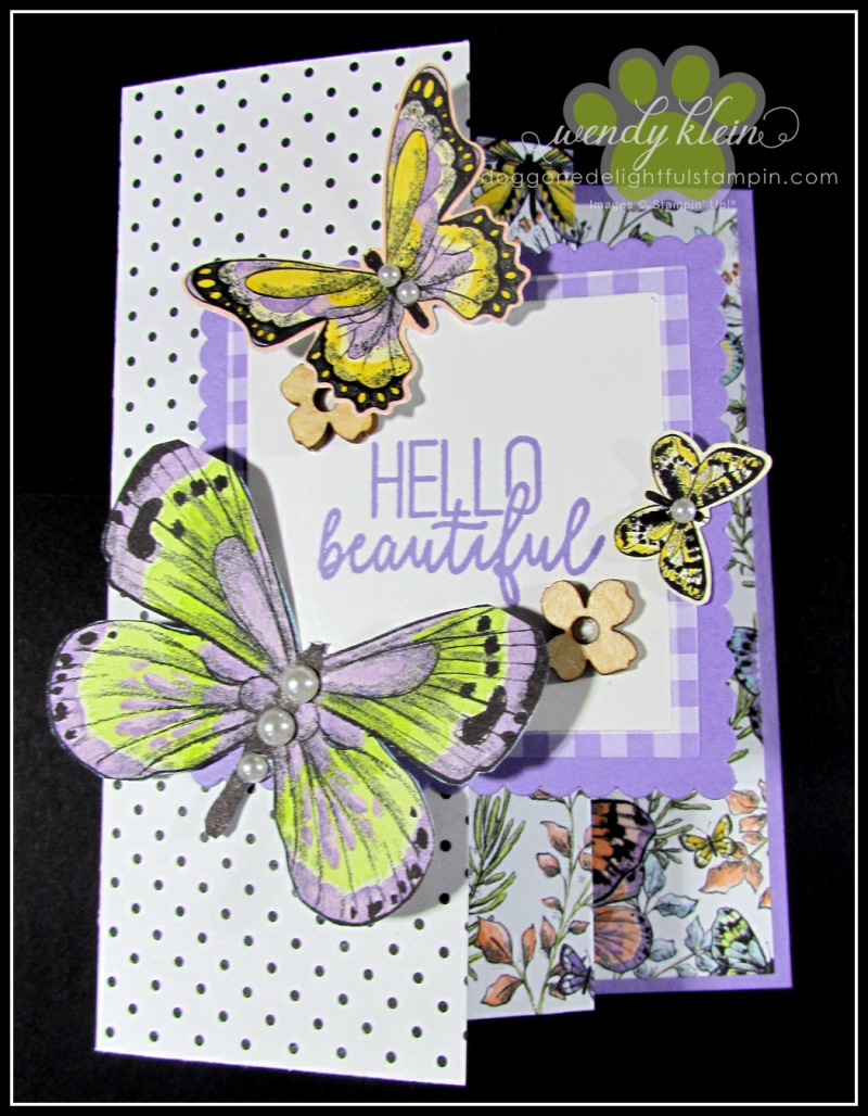 Botanical Butterfly DSP  Butterfly Duet Punch  DSP Showcase Z-Fold card - 13