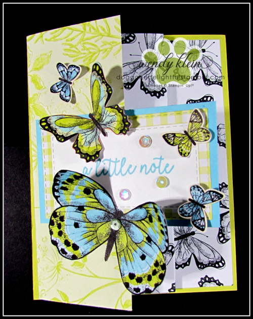 Botanical Butterfly DSP  Butterfly Duet Punch  DSP Showcase Z-Fold card - 7