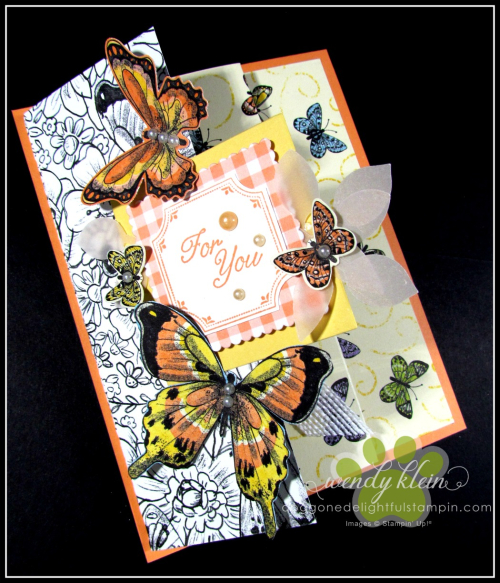 Botanical Butterfly DSP  Butterfly Duet Punch  DSP Showcase Z-Fold card - 9